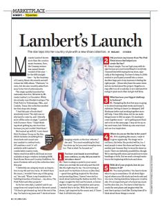 Lambert's Launch